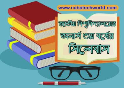 national university 3rd year syllabus